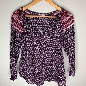 Velvet by Graham & Spencer cotton Tunic Size M